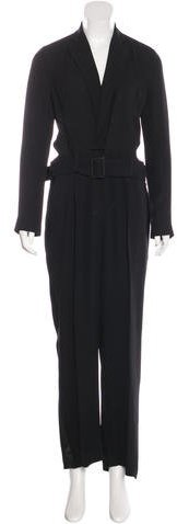 Ralph Lauren Collection Satin-Accented Silk Jumpsuit w/ Tags
