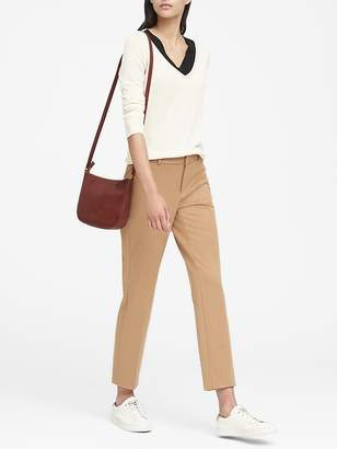 Banana Republic Petite Avery Straight-Fit Washable Ankle Pant