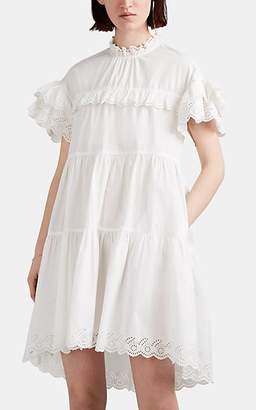 Ulla Johnson Women's Leonie Ruffle-Trimmed Cotton Poplin Dress - White