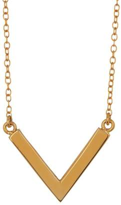 Anna Beck 18K Gold Plated Sterling Silver Dot Embossed V Necklace