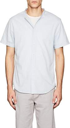 Barneys New York Men's Band-Collar Cotton Shirt