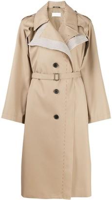 Maison Margiela deconstructed single-breasted trench coat
