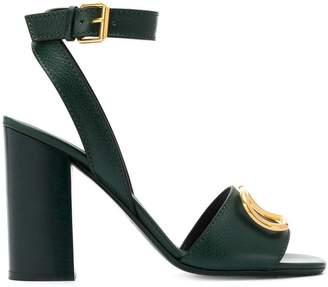 Valentino V logo heeled sandals