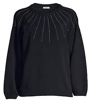 Peserico Women's Monili Beaded Wool, SIlk & Cashmere Sweater