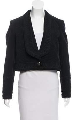 Temperley London Velvet Cropped Jacket