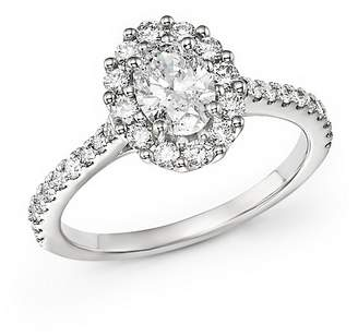 Bloomingdale's Oval Diamond Ring in 14K White Gold, 1.30 ct. t.w. - 100% Exclusive