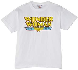DC Comics Girls Official Wonder Woman Logo T-Shirt,(Manufacturer Size:30 inches Chest)