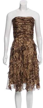 Ralph Lauren Black Label Printed Silk Dress