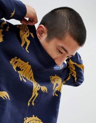 Wrangler Blue & Yellow Horse Logo Sweatshirt