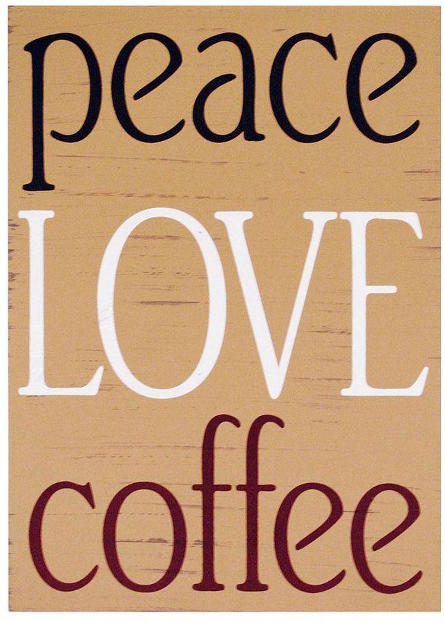 "KitchenArt ""Peace Love Coffee"" Wall Decor"
