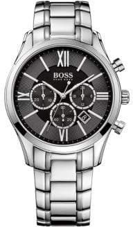 HUGO BOSS Mens Boss Black Ambassador Stainless Steel Bracelet Watch