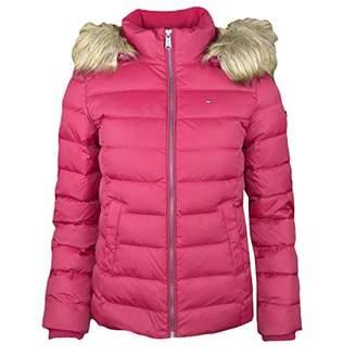 Tommy Hilfiger Tommy Jeans Women's Winter Jacket Down Fill with Faux Fur Hood