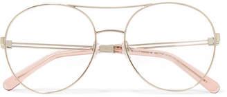 Chloé Jacky Round-frame Metal Optical Glasses - Gold