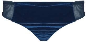 Ouihours Yes Master Blue Velvet Thong