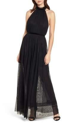 Topshop Taylor Halter Maxi Dress