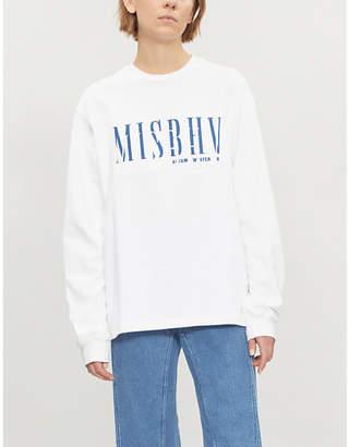 Misbhv Logo-embroidered cotton-jersey sweatshirt