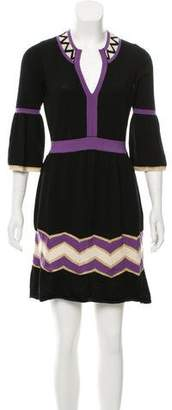 Milly Merino Wool Mini Dress
