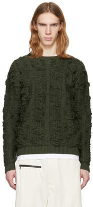 Bianca Chandon Green Cut Float Jacquard Sweater