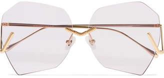 Burton For Art's Sake Square-frame Gold-tone Sunglasses - one size