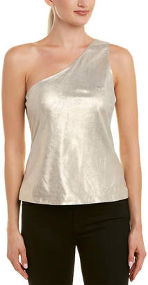 Ramy Brook Skylar Leather Top