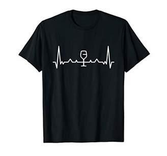 Wine Shirt Funny Wine Heartbeat Pulse Gift
