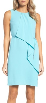 Women's Adrianna Papell Ruffle Crepe Dress $140 thestylecure.com