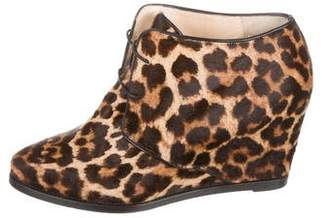 Christian Louboutin Printed Wedge Boots