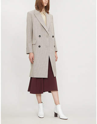 Theory Genesis checked cotton and wool-blend coat