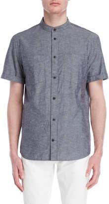 DKNY Woven Banded Collar Shirt