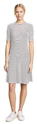 Three Dots Women's Hyannis Stripe Loose mid Dress