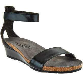 Naot Footwear Leather Ankle Strap Wedge Sandals - Pixie