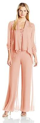 Emma Street Women's Chiffon Pant Suit Combo