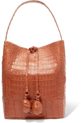 Nancy Gonzalez Crocodile Bucket Bag - Tan