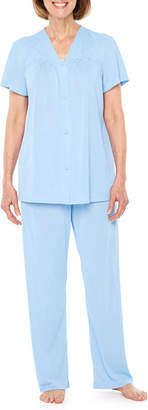 Asstd National Brand Lissome PolyTricot Short Sleeve Pajama Set