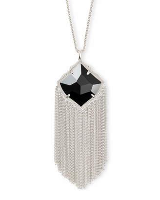 Kendra Scott Kingston Long Pendant Necklace in Silver