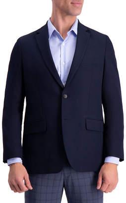 Haggar Active Series Solid Gab Tailored Fit Blazer Mens Sport Coat