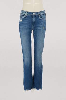 Mother The Rascal high-waisted straight-cut cropped jeans