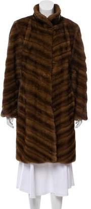 Michael Kors Mink Chevron Coat