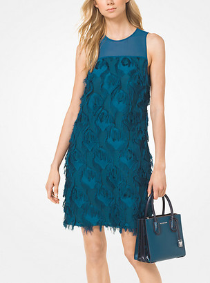 Michael Kors Feather Embroidered Shift Dress