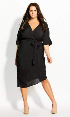 City Chic Citychic Asymmetrical Dress - black