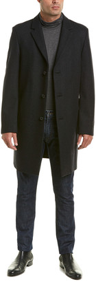 Ike Behar Savoy Wool-Blend Coat