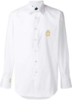 Billionaire embroidered logo shirt