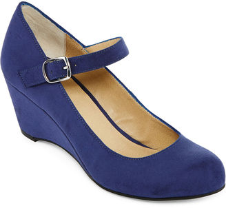A.N.A a.n.a Michele Mary Jane Wedge Pumps $65 thestylecure.com
