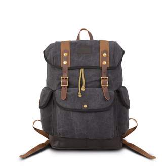 EAZO - Canvas Backpack for Backpacking in Black