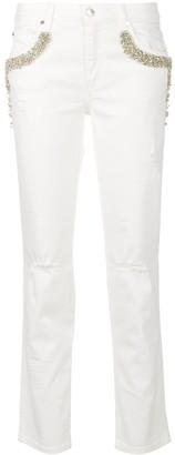 Ermanno Ermanno embellished pocket jeans
