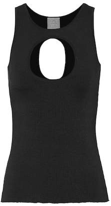 Vetements Stretch-cotton tank top
