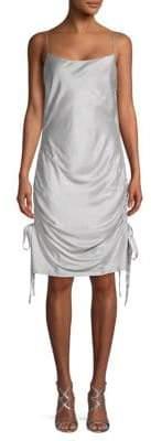 Zimmermann Ruched Silk Mini Slip Dress