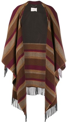 Schumacher Dorothee Cosy Fringes striped cape