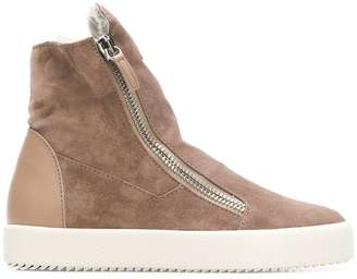 Giuseppe Zanotti Design shearling lined sneakers
