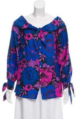 Alice McCall Floral Off-The-Shoulder Blouse w/ Tags